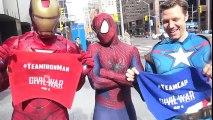 SPIDER-MAN picks a side - CAPTAIN AMERICA vs IRON MAN - Real Life Superhero Movie - TheSeanWardShow | Superheroes | Spiderman | Superman | Frozen Elsa | Joker