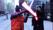 SPIDER-MAN vs KYLO REN   Superheroes   Spiderman   Superman   Frozen Elsa   Joker