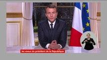 """Emmanuel Macron redit son """"engagement"""" """"d'apporter un toit"""" à """"toutes celles et ceux qui sont aujourd'hui sans-abri"""""""