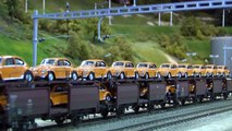 Largest Model Railway Layout of Switzerland in O Scale with Cab Ride