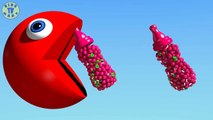 Learn Colors With 3d Colored Bottles And Pacman For Kids Toddlers Babi Video Dailymotion