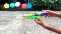 Experiment Toy Gun,Diverse liquid,Water vs Balloon - Gun Balloon Trick Shots - Epic Water Gun Battle