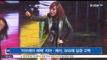 [KSTAR 생방송 스타뉴스]'미쓰에이 해체' 지아-페이, SNS에 심경 고백