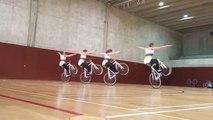 Entraînement de freestyle en vélo de course !! Championnes du monde en préparation en Suisse
