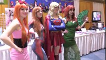 Spider-Man VS Harley Quinn VS Batman at Comic Con! | Superheroes | Spiderman | Superman | Frozen Elsa | Joker