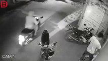 Ce motard se prend une énorme gamelle et continue de fumer sa clope tranquillement