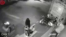 Un motard se crashe violemment et continue de fumer sa cigarette