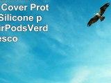 AirPods Custodia Airpods Case Cover Protective in Silicone per Apple AirPodsVerde fresco