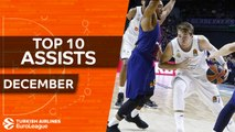 Turkish Airlines EuroLeague, Top 10 Assists, December
