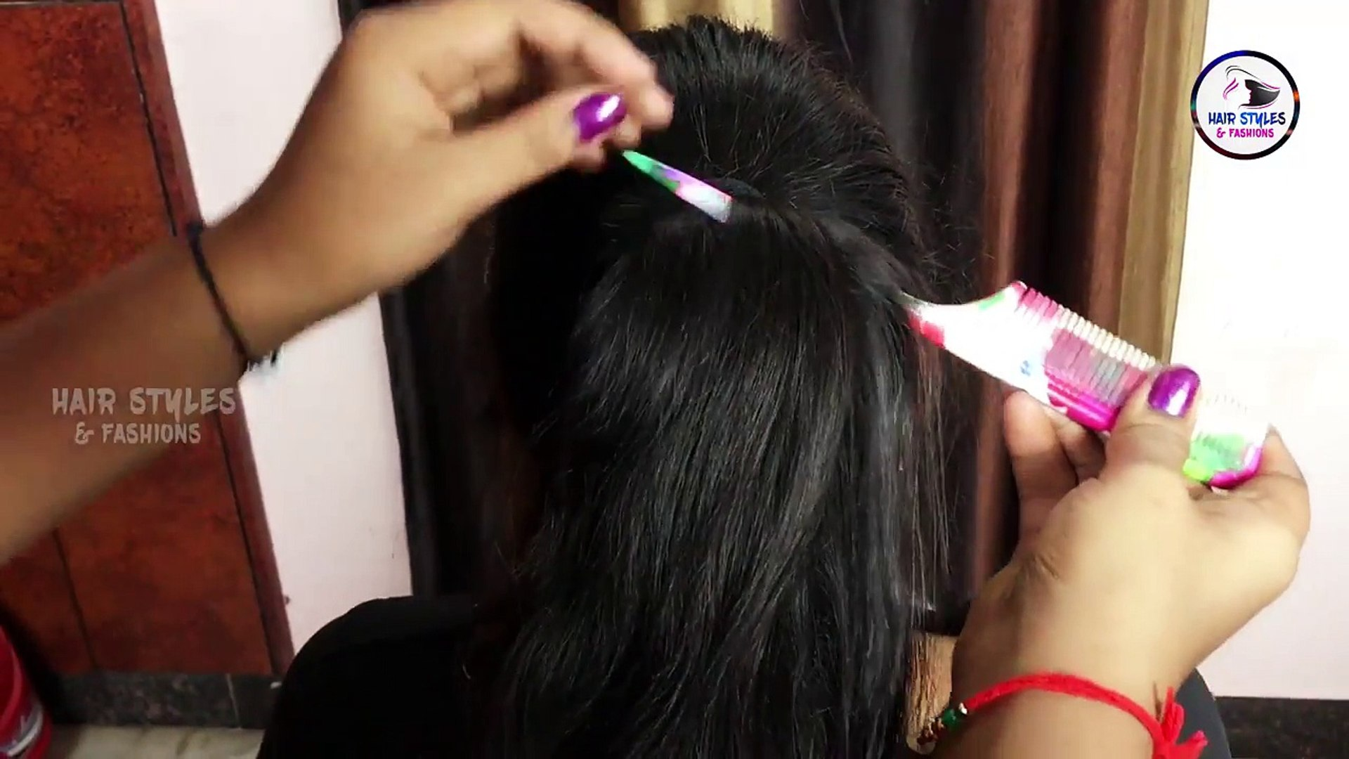 Simple and Easy Beautiful hair style for Women - Bridal Hair Style - Hair Styles &  Fashions