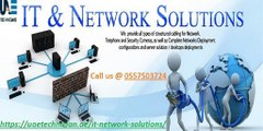 IT Network Solution Services in Dubai Call us @ 0557503724 Any Time