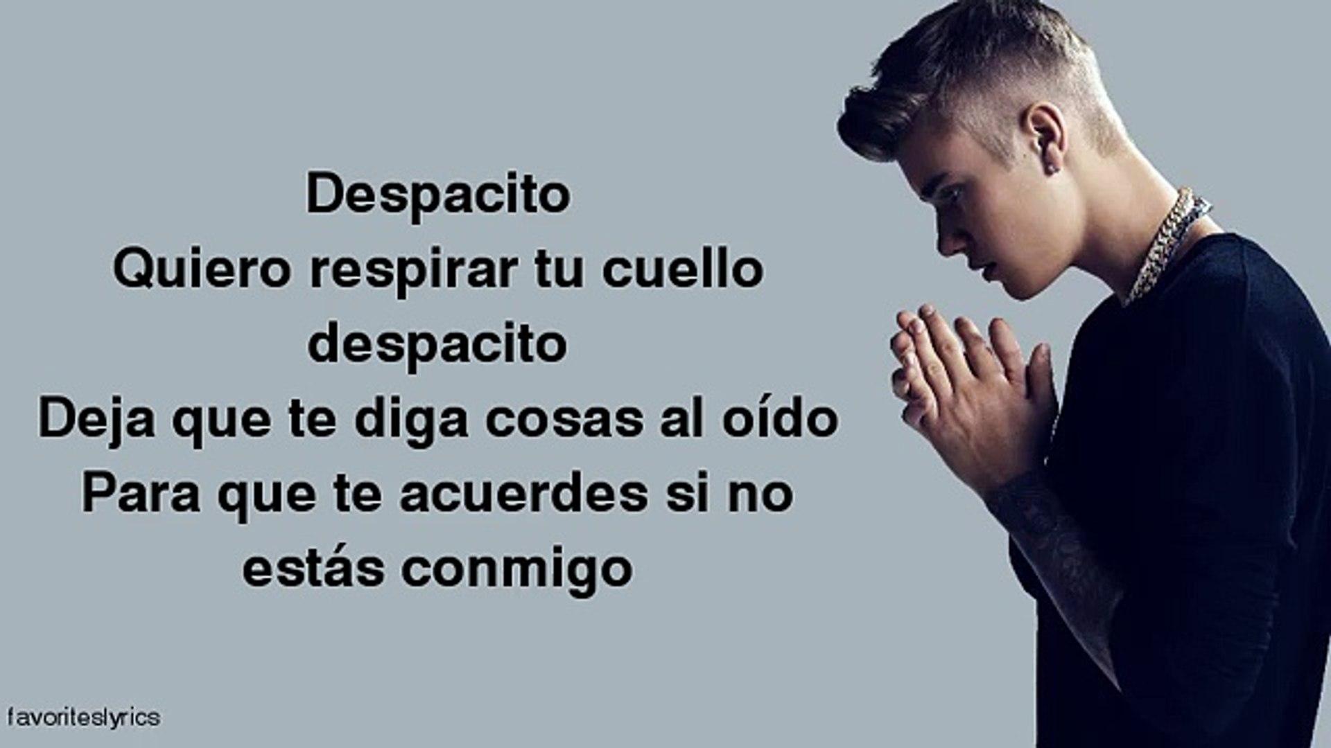 Justin Bieber Despacito Lyrics Ft Luis Fonsi Daddy Yankee
