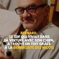 Bernard, le SDF qui vivait dans sa voiture avec son chien, a trouvé un toit grâce à la générosité des Niçois