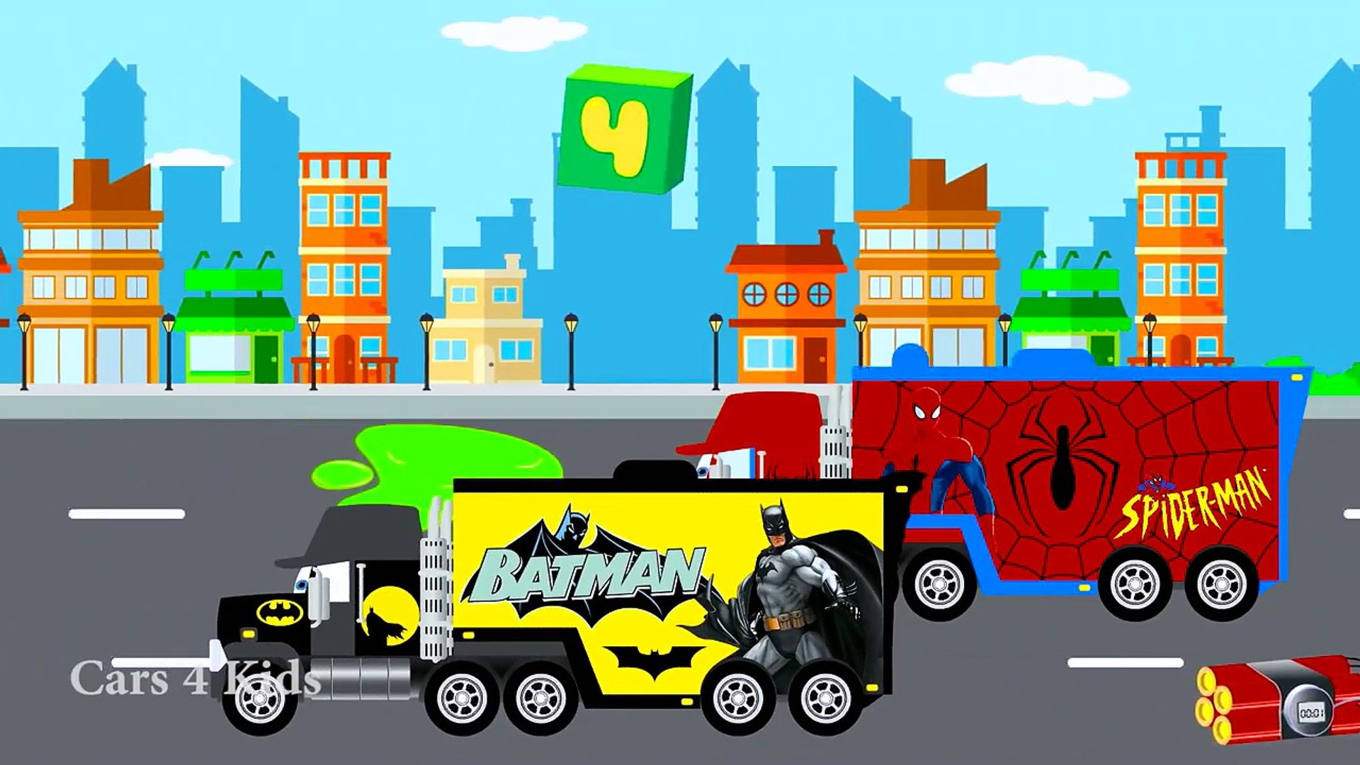 تعلم فيشيكلس للأطفال الحضانة القوافي والسيارات تعلم الفيديو التعليمي ث اللون للأطفال