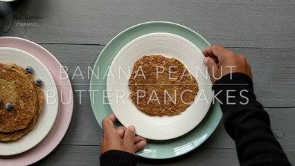 Vegan Banana & Peanut Butter Pancakes