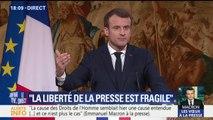 """Macron s'inquiète de la porosité entre """"fausses nouvelles"""" et """"médias professionnels"""""""