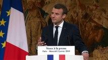 Voeux du Président de la République Emmanuel Macron à la presse.