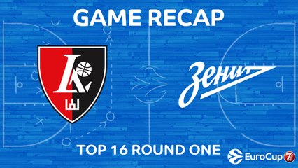 7Days EuroCup Highlights Top 16, Round 1: Rytas 96-98 Zenit
