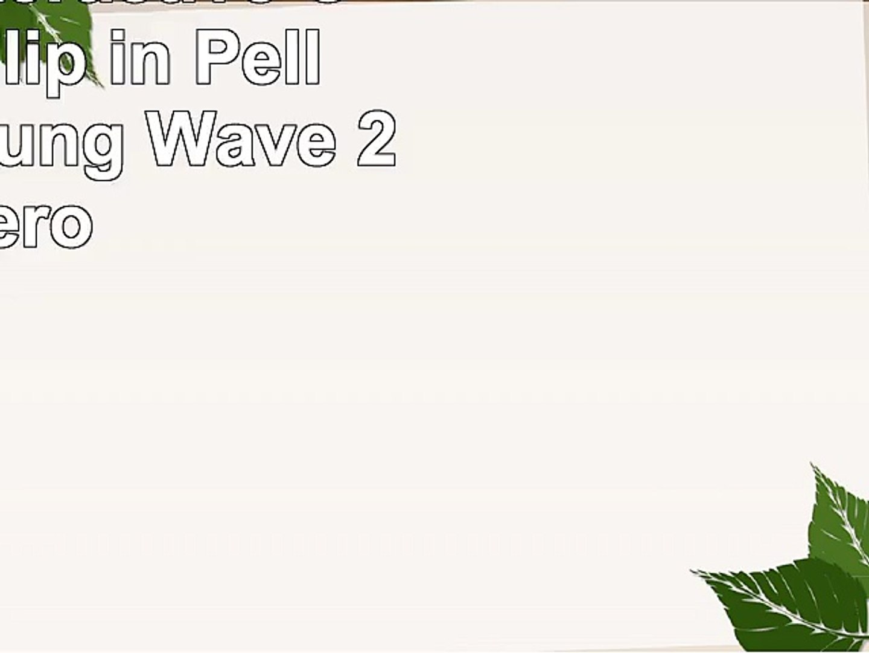 Bigben Interactive Custodia Flip in Pelle per Samsung Wave 2 Nero