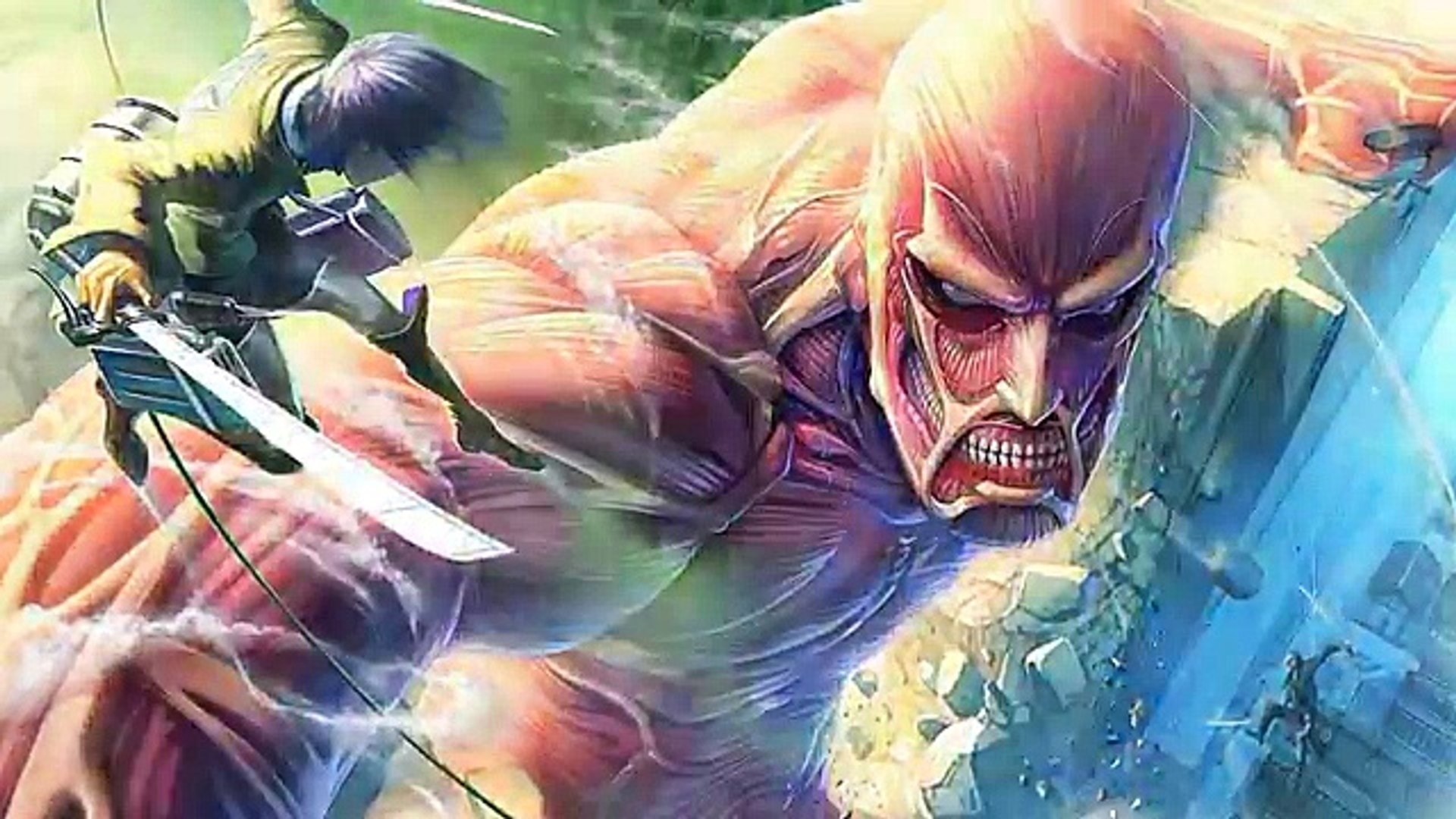 Full Color Eren Armin Vs Colossal Titan Full Fight Attack On Titan Manga Chapter 82 Video Dailymotion