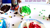 Learn Colors with M&M's Decorating Ice Cream IRL for Children, Toddlers and Bab
