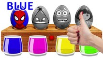 Surprise Eggs Bathing Colors ! Learn Colors With Spiderman Dora and Angry Bi