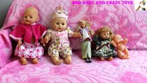 Crying Babies Jumping in the Bed _ Feeding Bad Babies-1Y5blDGg4CM
