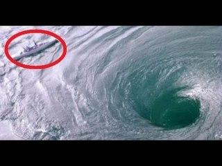 Boat stuck in a Whirlpool - Ocean Whirlpool