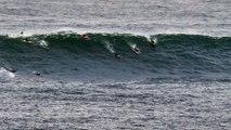 Adrénaline - Surf : Une grosse vague à la rame ce jeudi à Belharra pour le surfeur portugais Alex Botelho
