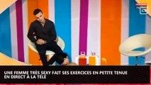 Une femme très sexy fait du sport en petite tenue à la télévision (vidéo)