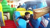 Kapalı oyun alanı eğlence Çocuklar için aile oyun alanı slaytlar şişme sıçrama oyuncaklar oyun