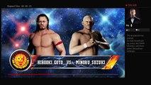 WWE 2K18 NJPW Wrestle Kingdom 12 NEVER Openweight Championship Hirooki Goto Vs Minoru Suzuki