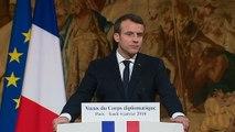 Voeux du Président de la République Emmanuel Macron au Corps diplomatique.