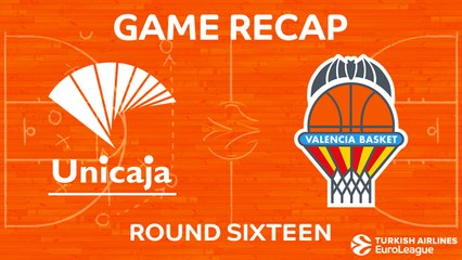 EuroLeague 2017-18 Highlights Regular Season Round 16 video: Unicaja 83-85 Valencia
