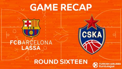 EuroLeague 2017-18 Highlights Regular Season Round 16 video: Barcelona 85-72 CSKA