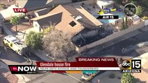 Firefighters battling blaze at Glendale house