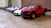 Cars for Kids _ Toy Cars on  Parade driving in one line-