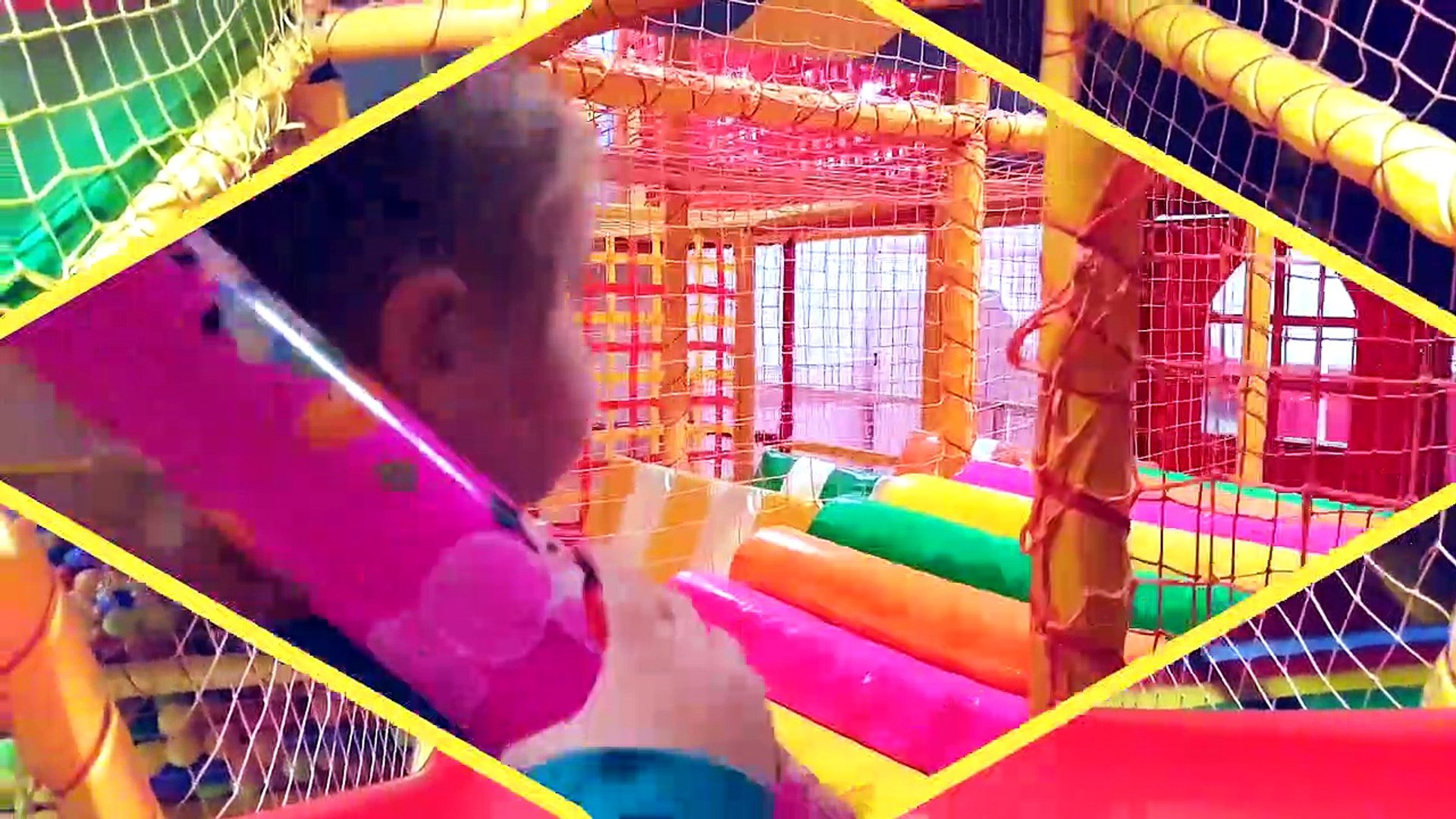 Indoor Playground Family Fun Play Entertainments for kids Trampoline Funny videos 2017  for children