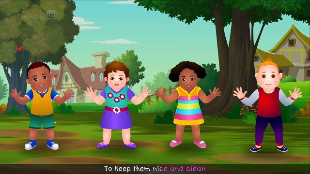 Wash Your Hands Song for Kids _ Good Habits Nursery Rhymes For Children _ ChuChu TV-wr