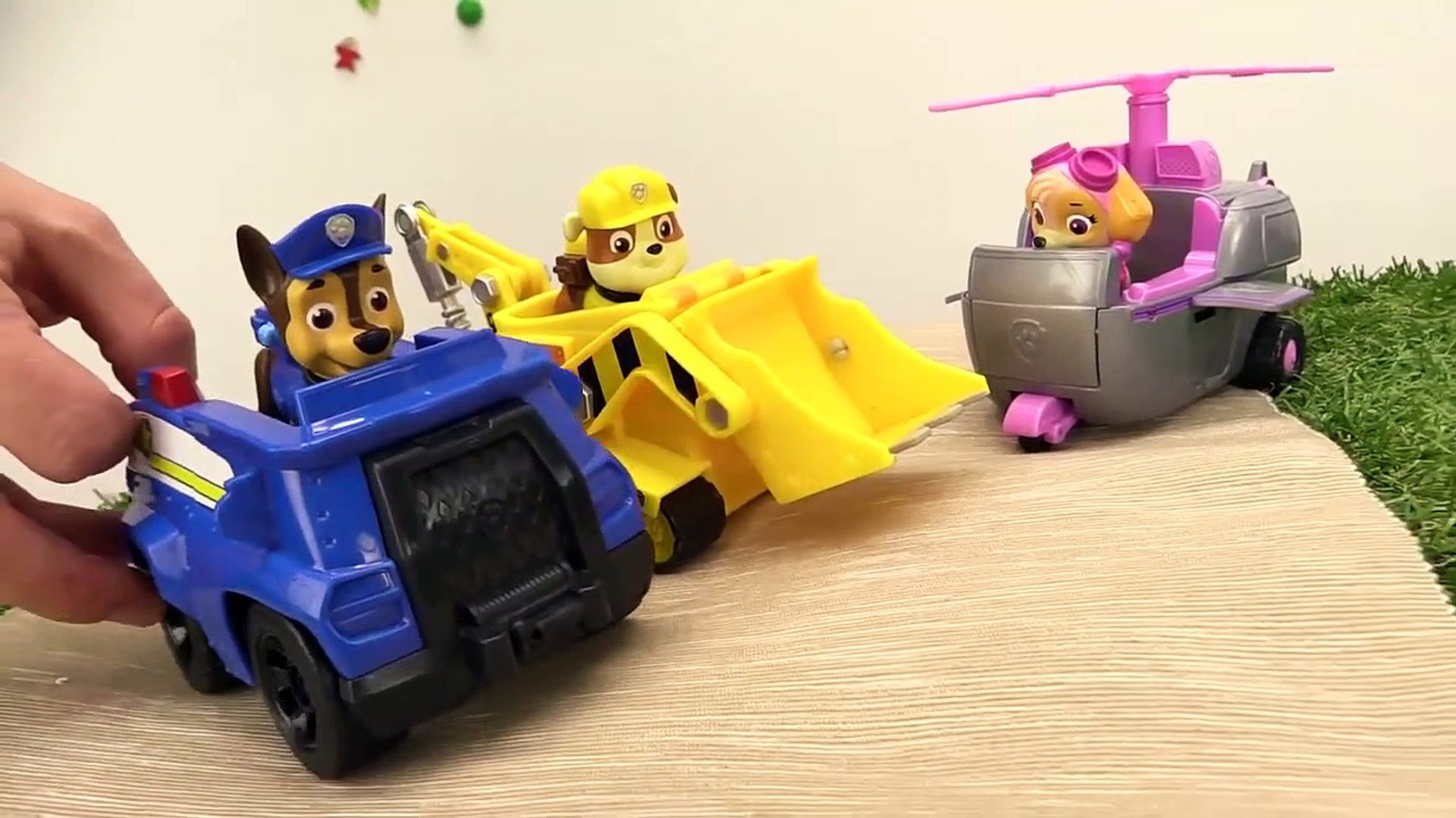 ROCK SLIDE! Paw Patrol & Blaze & Crusher Toy Trucks Stories - Toys Video