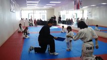 3-Year-Old Tries to Break Board in Taekwondo - Taekwondo Kid