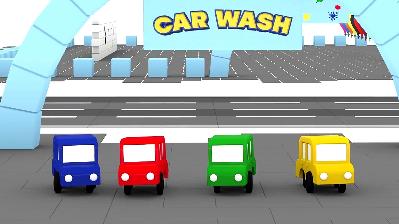 Cartoon Cars – CAR WASH PAINTBALL – Cars