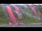 Lava flows in Pahoa - Hot Lava