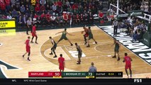 College basketball. Michigan State Spartans - Maryland Terrapins 04.01.18 (Part 2)