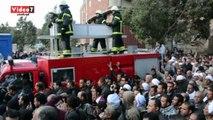 محافظ ومدير أمن القليوبية يشاركان فى تشييع جثمان شهيد حادث العريش