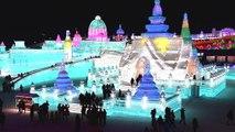 Le festival de sculptures sur glace d'Harbin vient d'ouvrir ses portes en Chine - 05/01/2018