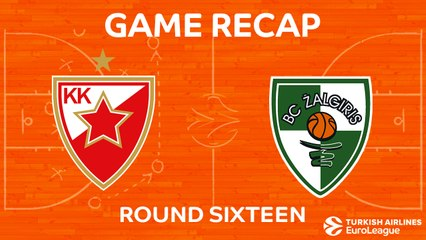 EuroLeague 2017-18 Highlights Regular Season Round 16 video: Zvezda 77-65 Zalgiris