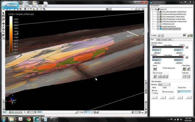 3D Mine Pool Model of the Brookside Mine