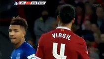 Virgil Van Dijk Goal HD - Liverpool	2-1	Everton 05.01.2018