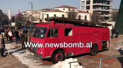Zjarri ne Korçë te Katedralja